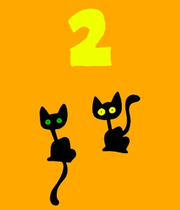 2 black cats