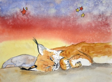 Dreamy Desert, Bobcat (sold)