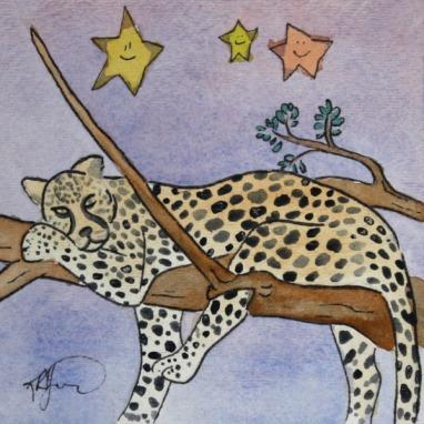 Sleepy Safari, Cheetah (Sold)