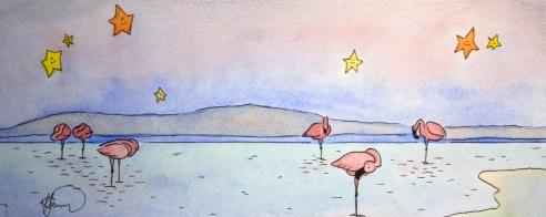 Sleepy Safari, Flamingoes