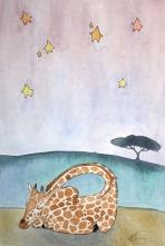 Sleepy Safari, Giraffe (sold)