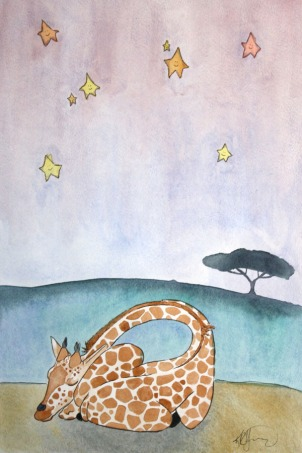 Sleepy Safari, Giraffe (sold)