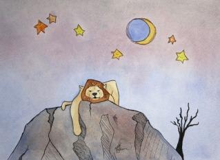 Sleepy Safari, Lion (sold, prints available)