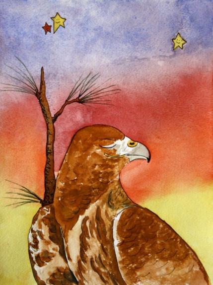 Dreamy Desert, Red Tail Hawk