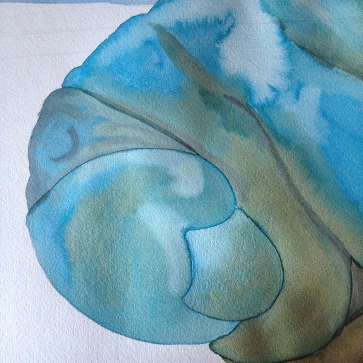 Manatee in process, illustrating for Slumbering Sea.