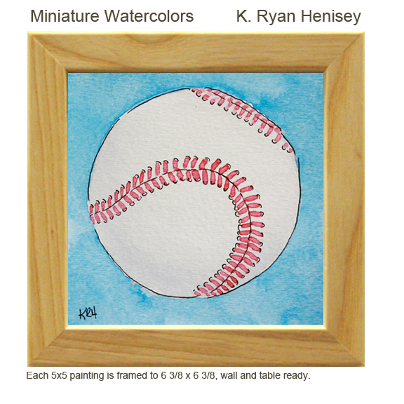 Baseball and other Paintings are available on the Etsy Shop
