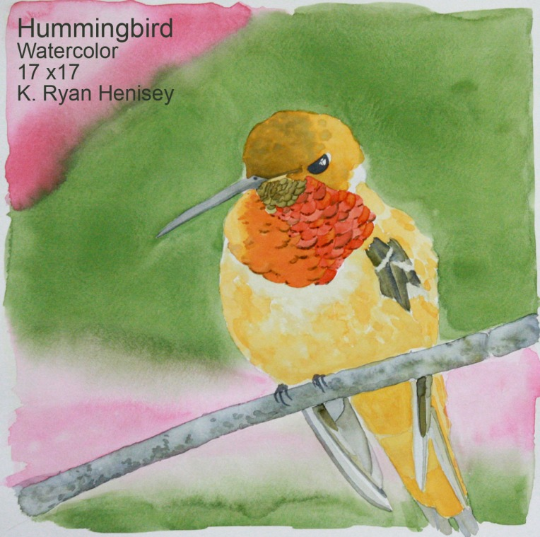 Hummingbird 1 is now available on Etsy