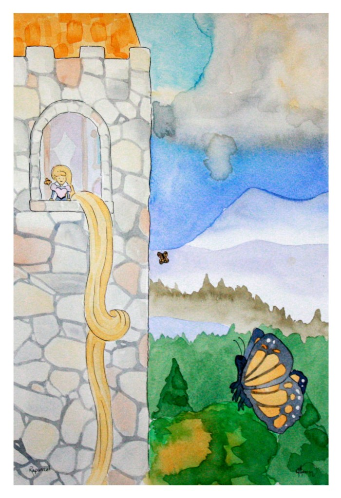 Rapunzel and other illustrations are available in the Etsy shop! (Free Shipping in the US).