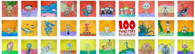Twitter Banner 100 Monsters