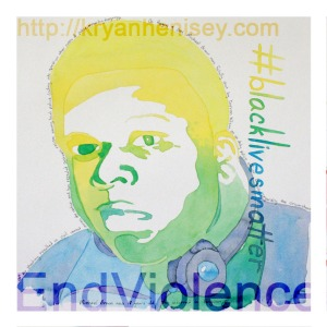 Michael's portrait reads: On August 9, 2014, Michael Brown was fatally shot by Darren Wilson, an on duty police officer. Dispute regarding the circumstances of the shooting resulted in civil unrest across the nation and revealed systemic racism among local police, calling into question other cases of police violence against minorities. Michael Brown was 18 years old. This occurred in Ferguson, Missouri.