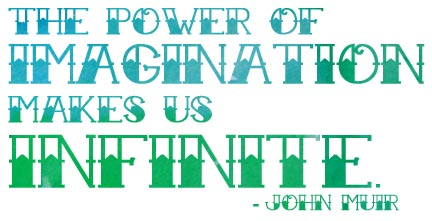 The power of imagination makes us infinite. - John Muir