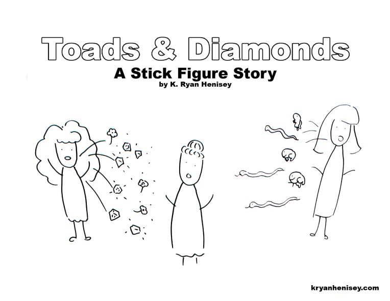 Download the Toads and Diamonds Coloring Page for Your Kids.