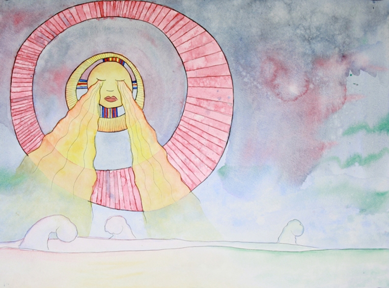 Henisey_SisterSun_18x24_Watercolor